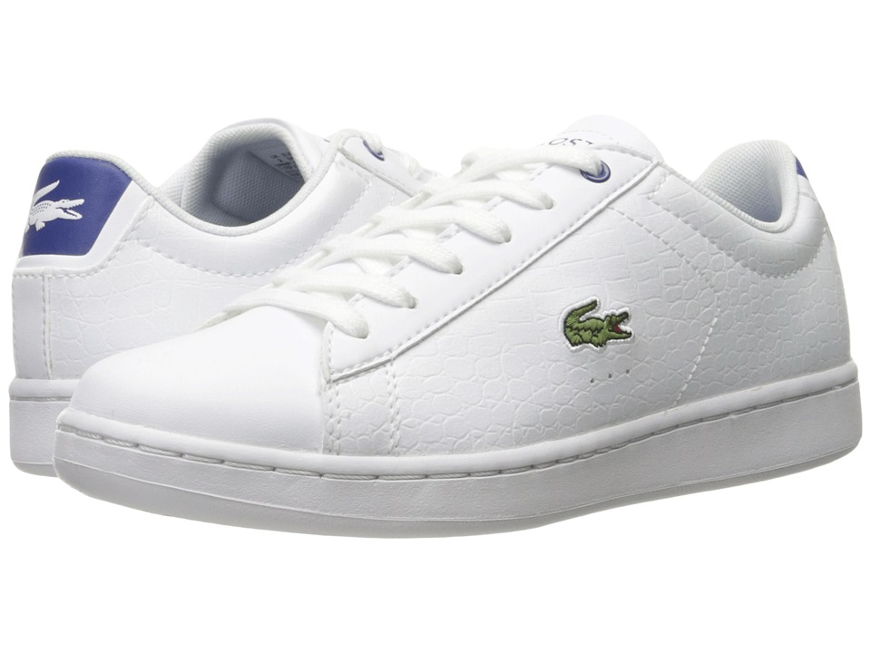 Lacoste Kids - Carnaby Evo Gsp 1 (Little Kid/Big Kid) (White/Blue) Kid's Shoes