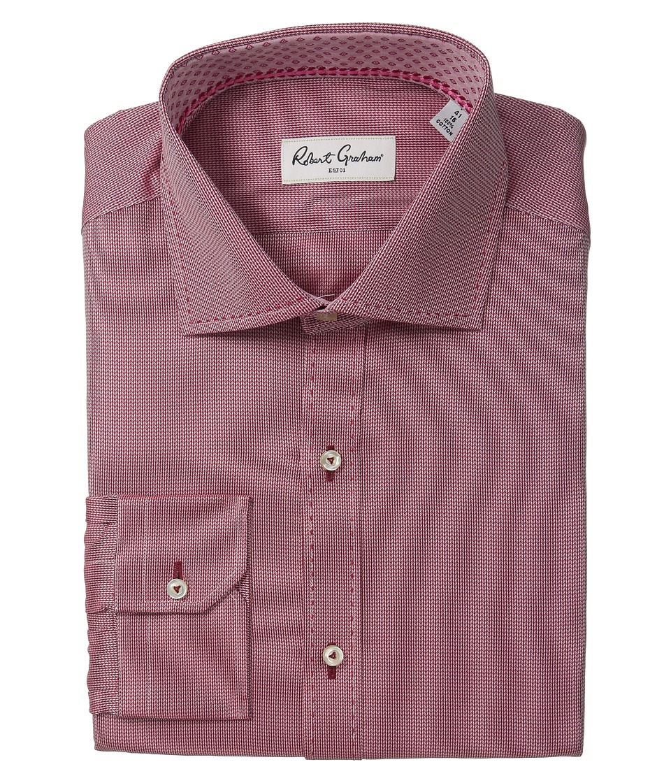 Robert Graham - Fancy Dress Shirt (Berry) Men's Long Sleeve Button Up