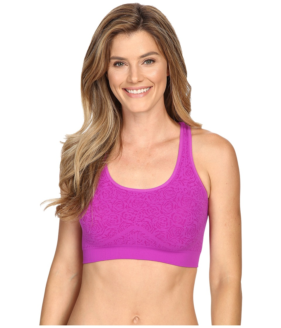 Fila - Running with Roses Seamless Bra (Purple Cactus Flow) Women's Bra