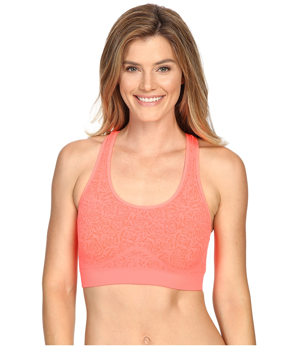 Fila Running with Roses Seamless Bra (Fiery Coral Jacquard) Women
