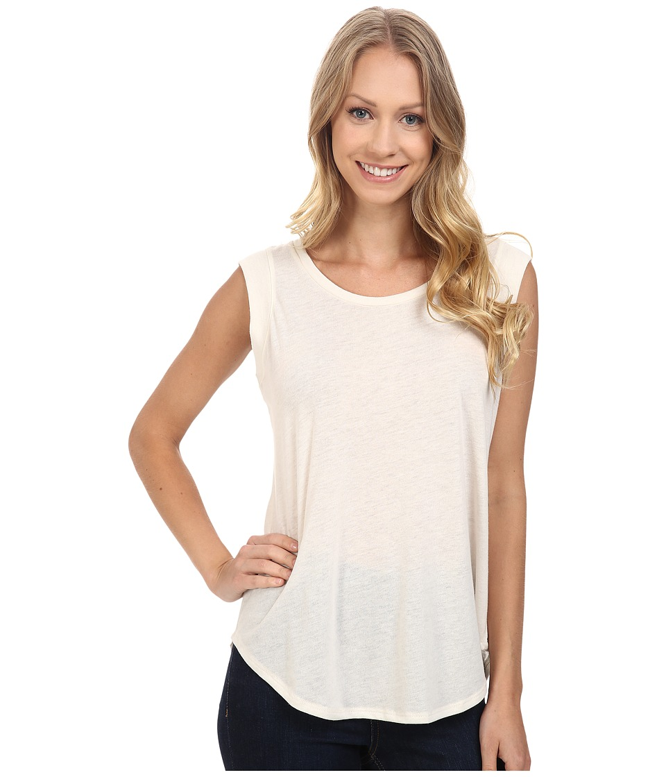 B Collection by Bobeau - Iris Muscle T-Shirt (Ivory) Women's Short Sleeve Pullover