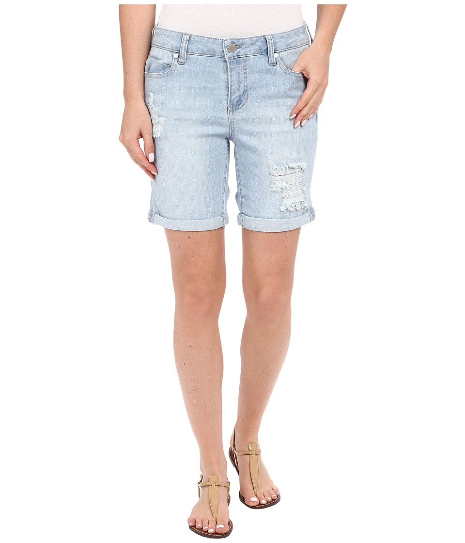 Liverpool - Corine Rolled Denim Shorts w/ Destruction in Belmont Bleach Blue (Belmont Bleach Blue) Women's Shorts