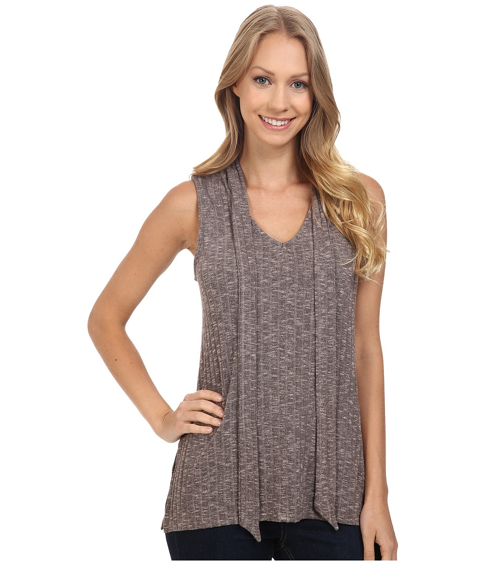B Collection by Bobeau - Anabelle Tie-Neck Knit Top (Cocoa) Women's Sleeveless