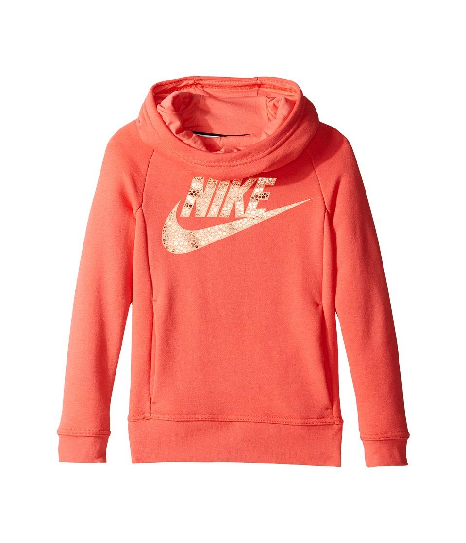 Nike Kids - Sportswear Modern Hoodie (Little Kids/Big Kids) (Ember Glow) Girl's Sweatshirt