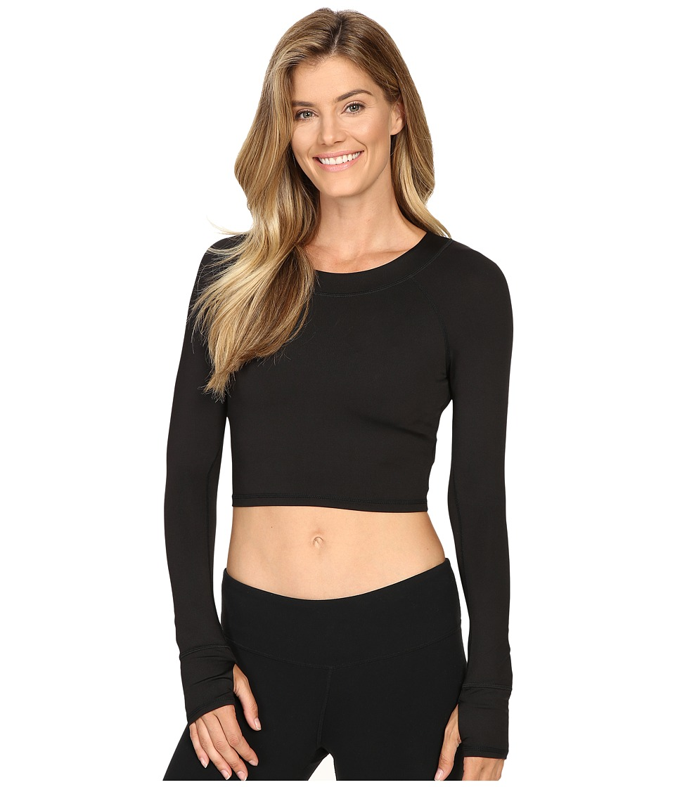 Fila - Cali Cropped Crew (Black) Women's Clothing