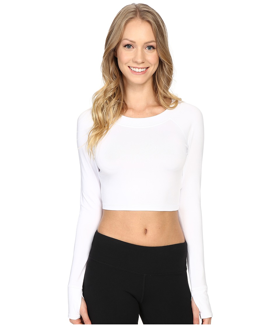Fila - Cali Cropped Crew (White) Women's Clothing