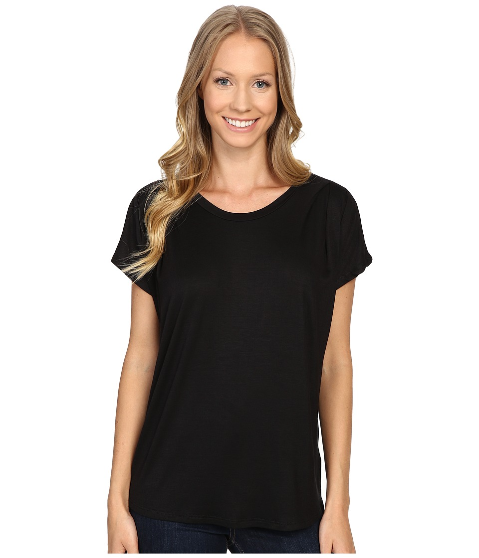 B Collection by Bobeau - Nora Scoop Neck Tee (Black) Women's T Shirt