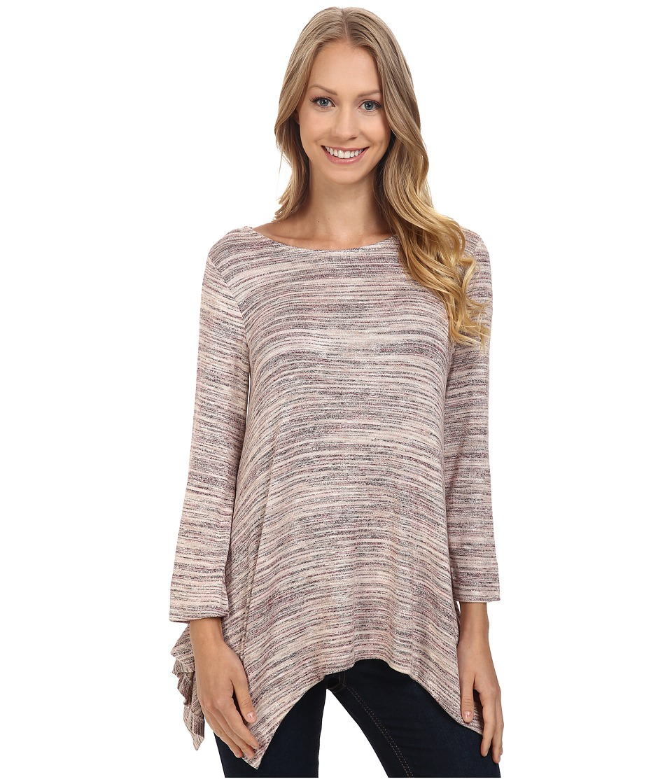 B Collection by Bobeau - Langely Space Dye Knit Top (Pink Mix) Women's Long Sleeve Pullover