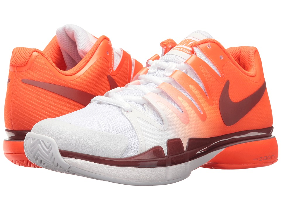 Nike - Zoom Vapor 9.5 Tour (Total Crimson/Metallic Rose Gold-White) Women's Tennis Shoes