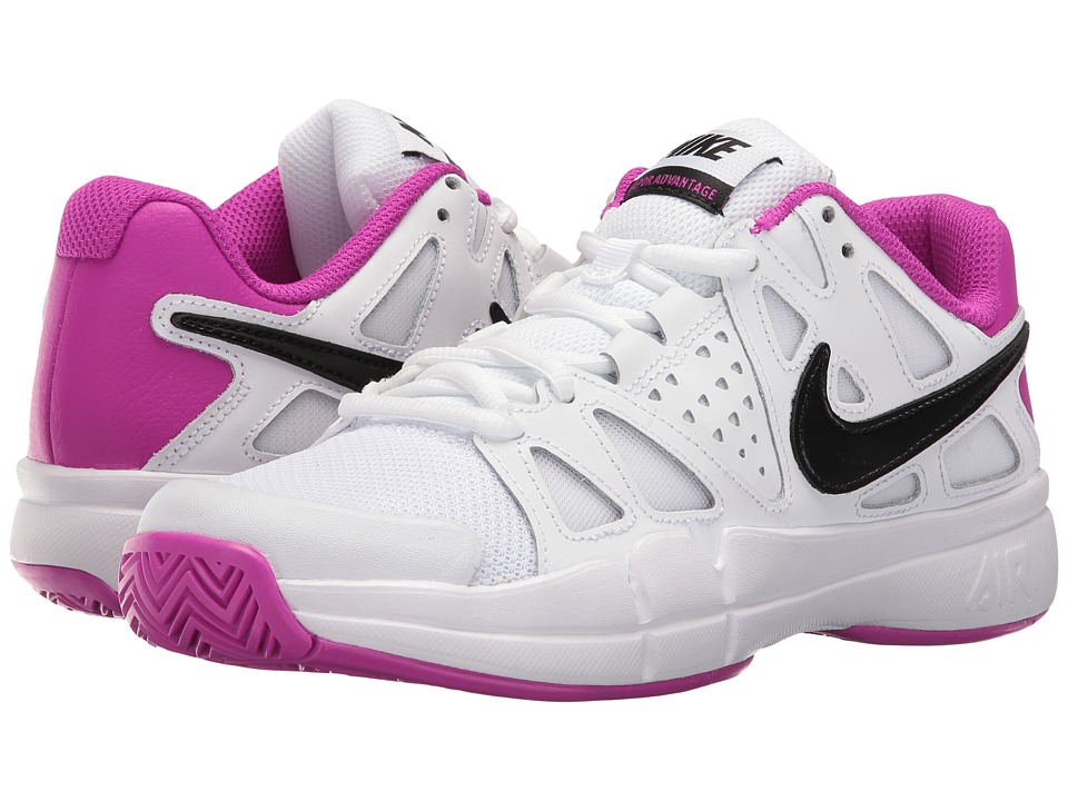 Nike - Air Vapor Advantage (White/Black-Hyper Violet) Women's Tennis Shoes