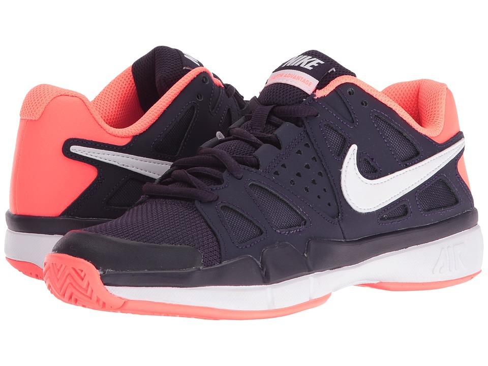 Nike - Air Vapor Advantage (Purple Dynasty/White-Bright Mango) Women's Tennis Shoes
