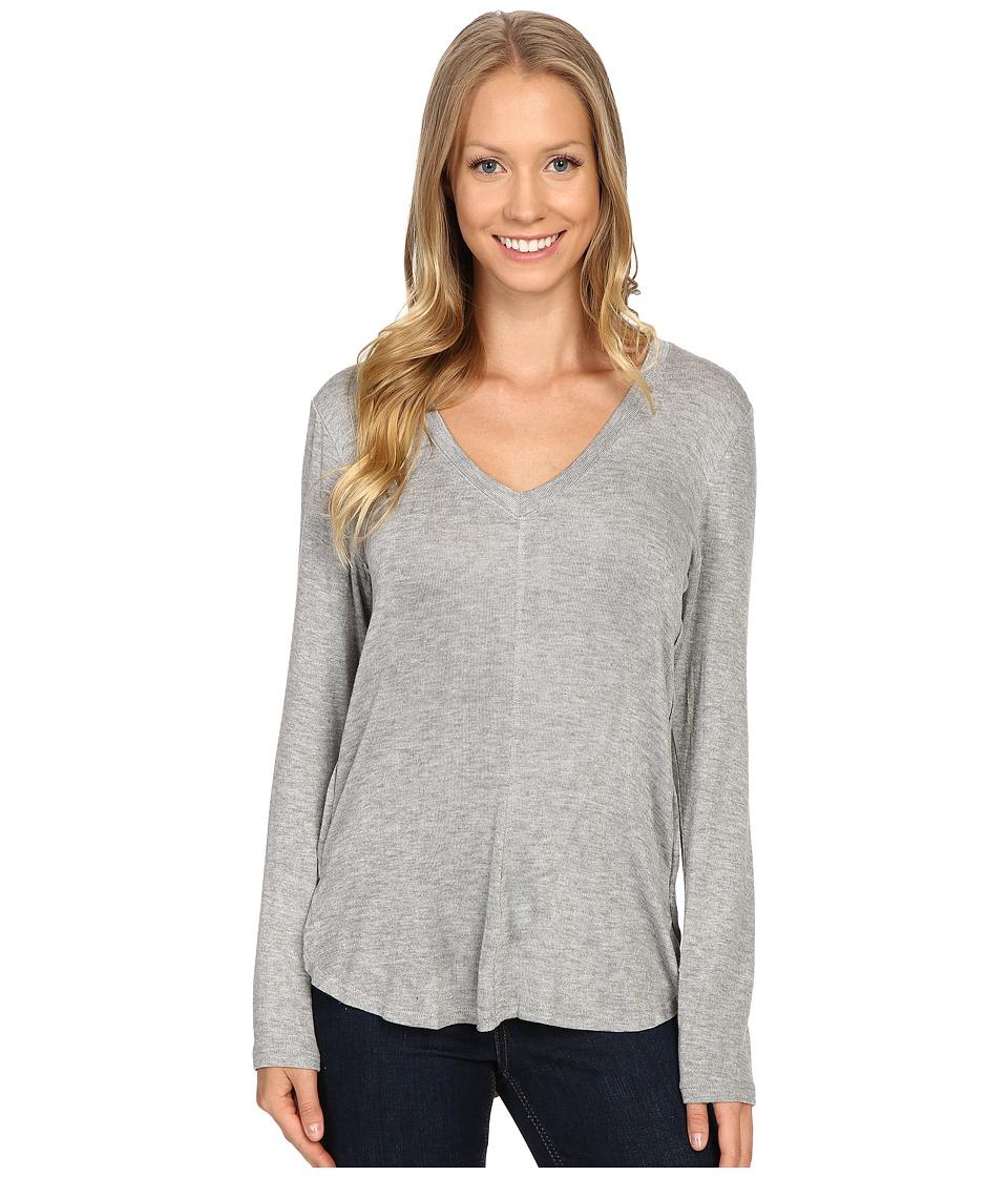 B Collection by Bobeau - Alice Long Sleeve Tee (Heather Grey) Women's T Shirt