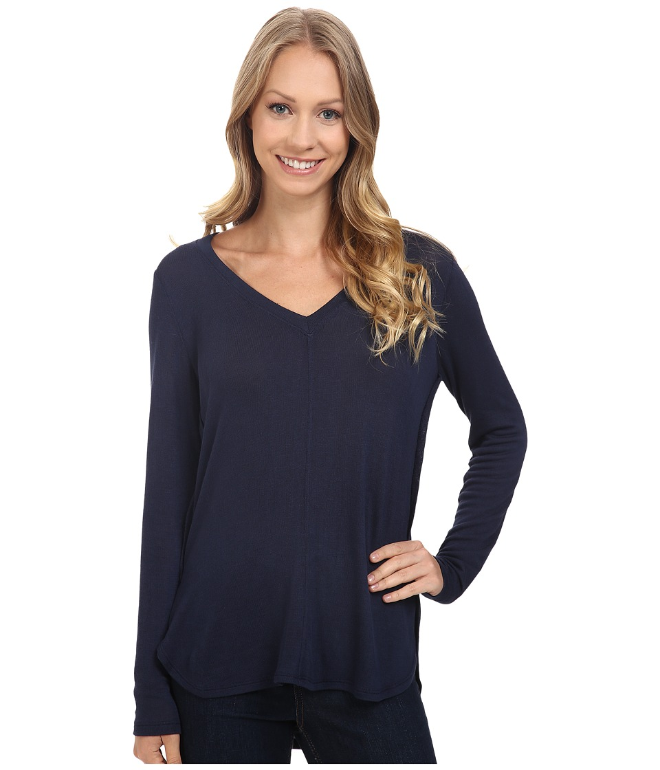 B Collection by Bobeau - Alice Long Sleeve Tee (Navy) Women's T Shirt