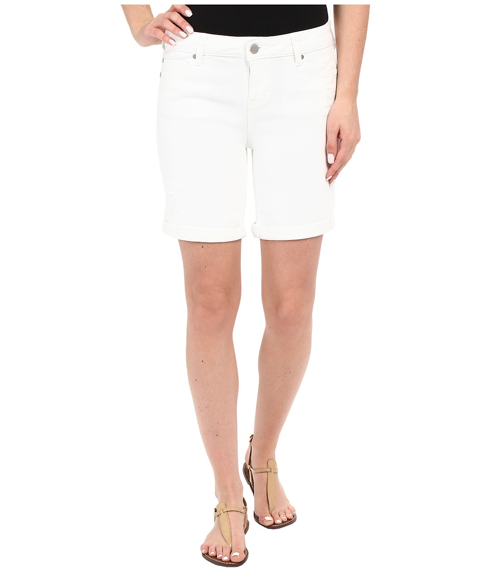 Liverpool - Corine Rolled Denim Shorts w/ Destruction in Bright White (Bright White) Women's Shorts