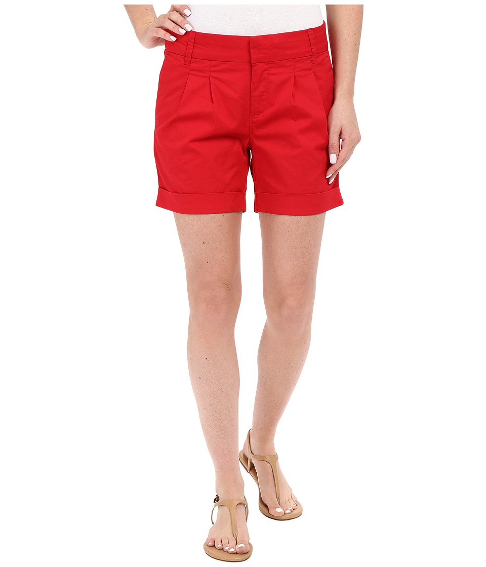 KUT from the Kloth - Julia Pleated Walking Shorts in Red (Red) Women's Shorts