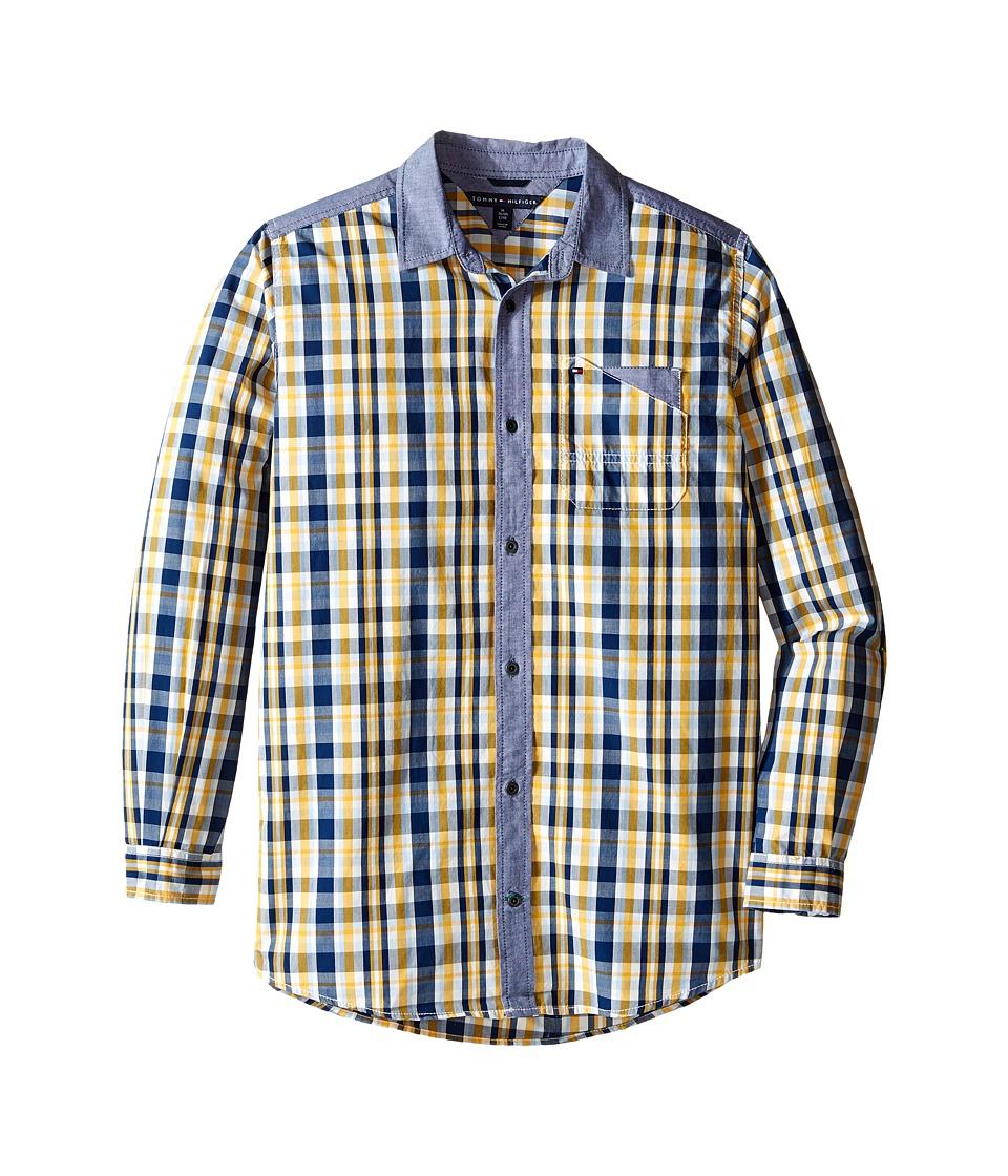 Tommy Hilfiger Kids - Christopher Long Sleeve Woven Shirt (Big Kids) (White Cloud) Boy's Clothing