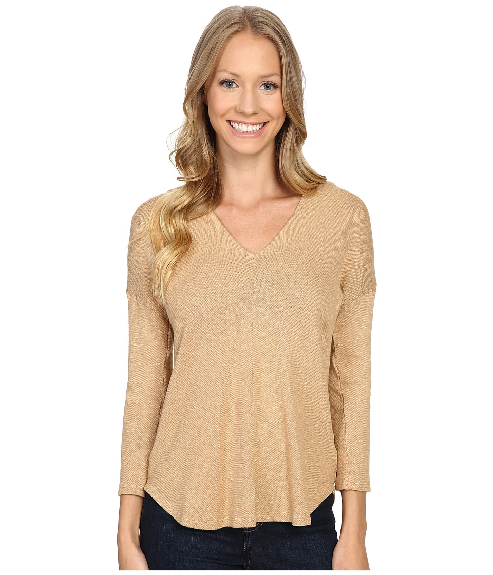 B Collection by Bobeau - Millie V-Neck Knit Top (Camel) Women's Clothing