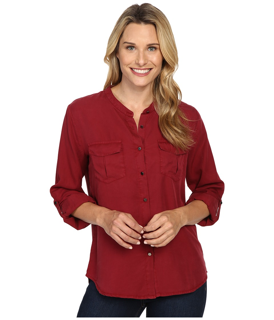 B Collection by Bobeau - Pippa Two-Pocket Tencel Blouse (Lumberjack Red) Women's Blouse