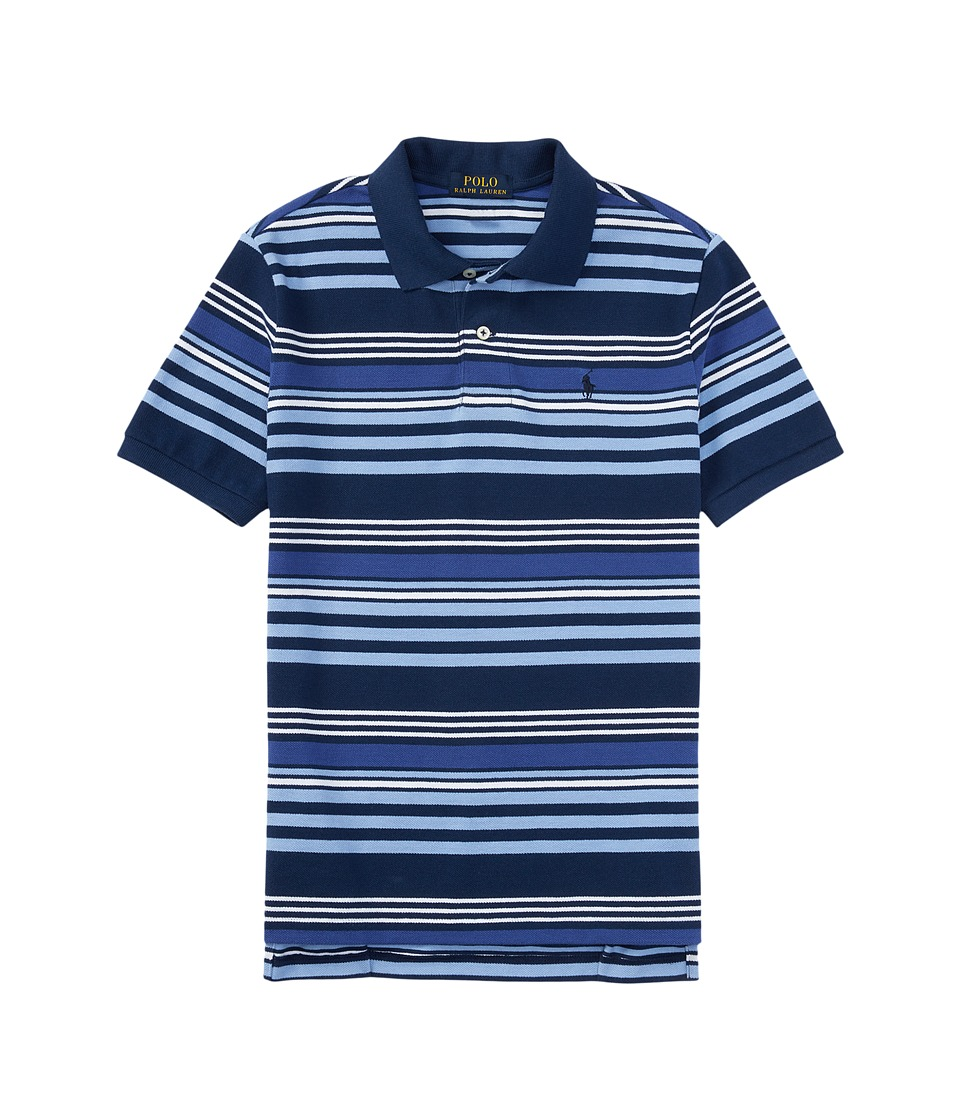 Polo Ralph Lauren Kids - Short Sleeve Knit Collar Shirt (Little Kids/Big Kids) (Spring Navy Multi) Boy's Short Sleeve Pullover