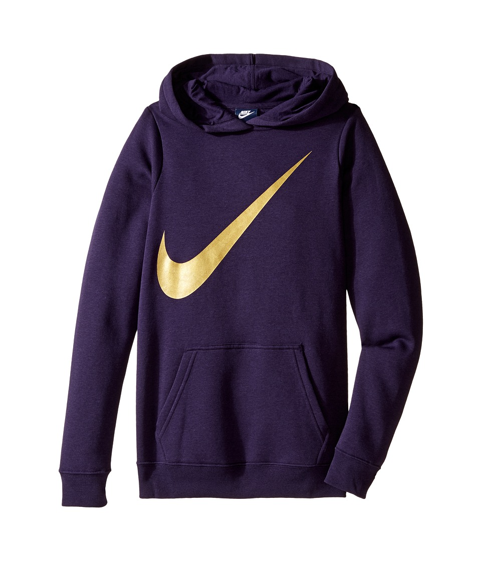 Nike Kids - NSW Hoodie Over the Head Graphic (Little Kids/Big Kids) (Purple Dynasty) Girl's Clothing