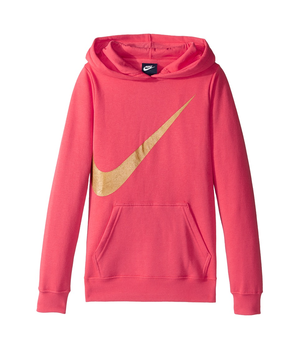 Nike Kids - NSW Hoodie Over the Head Graphic (Little Kids/Big Kids) (Ember Glow) Girl's Clothing