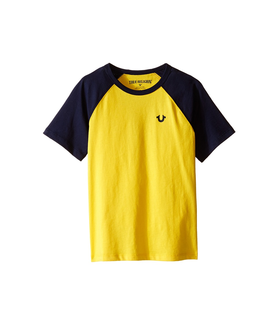 True Religion Kids - Branded Logo Raglan Tee (Toddler/Little Kids) (Yellow) Boy's T Shirt