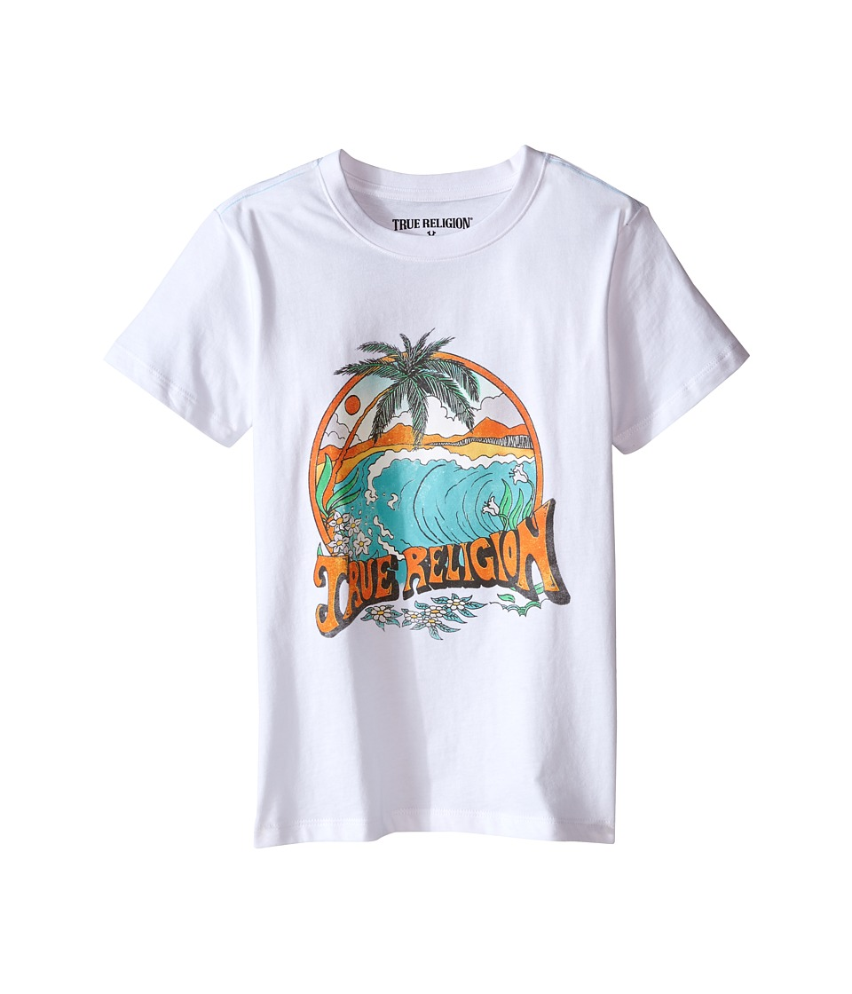 True Religion Kids Surfer Graphic Tee (Toddler/Little Kids) (White) Boy
