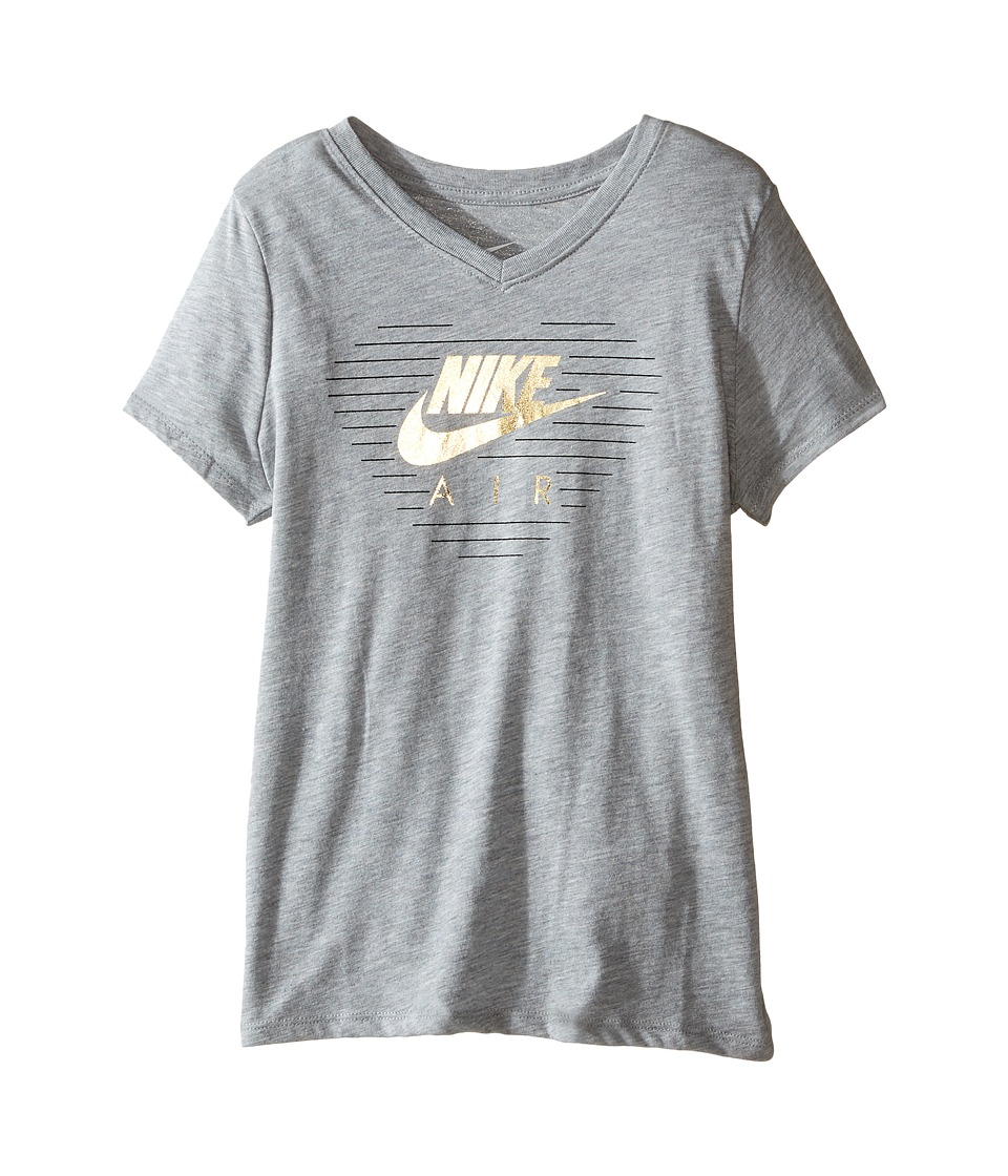 Nike Kids - Sneaker Love Training T-Shirt (Little Kids/Big Kids) (Dark Grey Heather) Girl's T Shirt