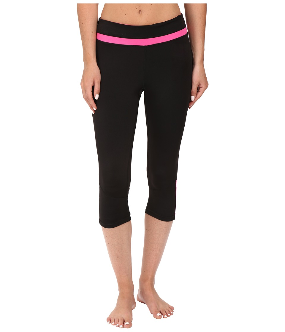 Fila - Blast Tight Capris (Black/Pinky Daze) Women's Capri