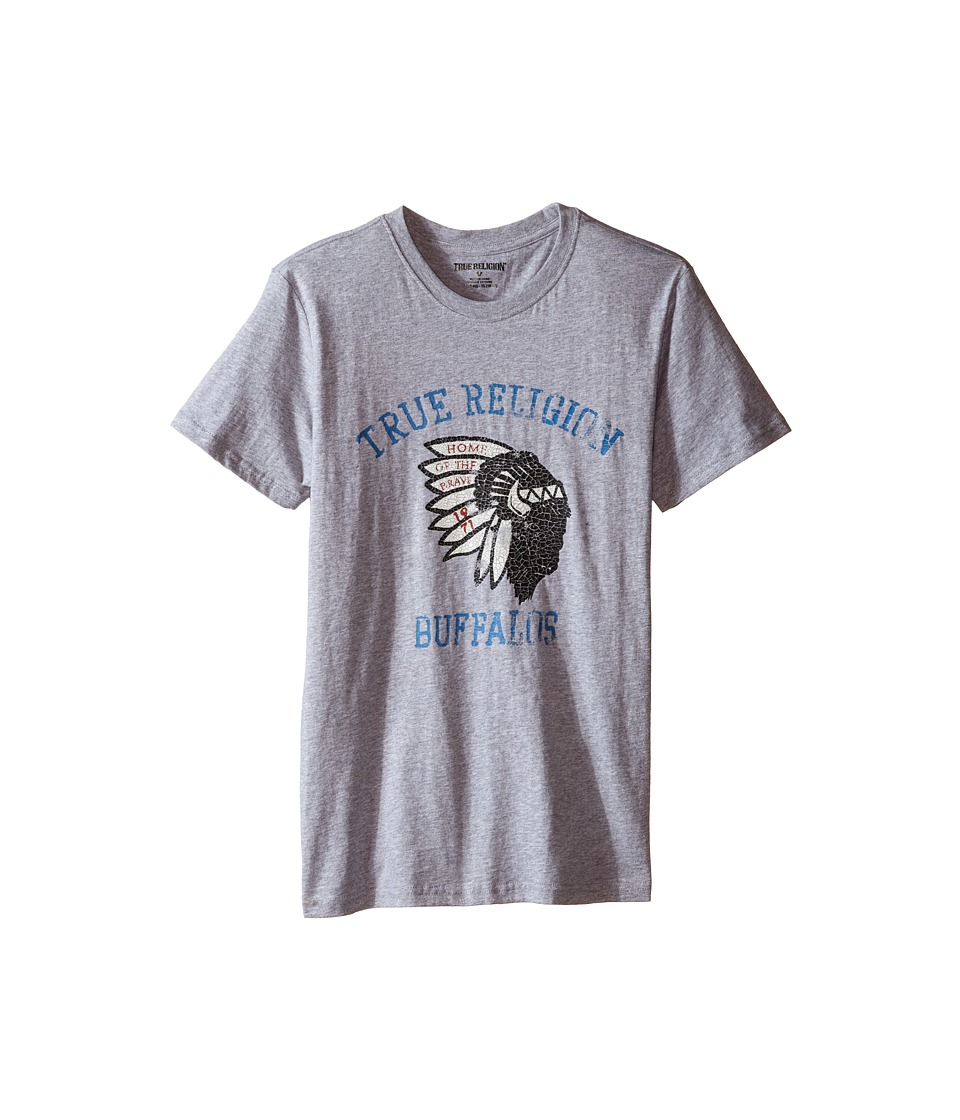 True Religion Kids Buffalo Tee (Big Kids) (Heather Grey) Boy