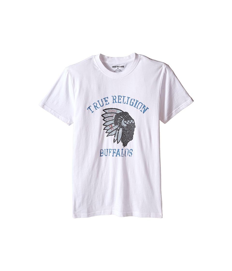 True Religion Kids - Buffalo Tee (Big Kids) (White) Boy