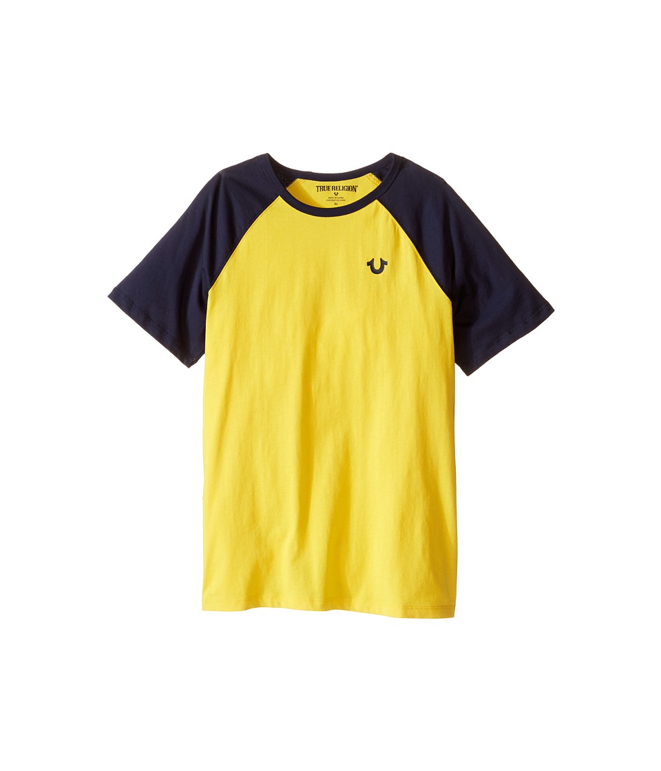 True Religion Kids - Branded Logo Raglan Tee (Big Kids) (Yellow) Boy's T Shirt