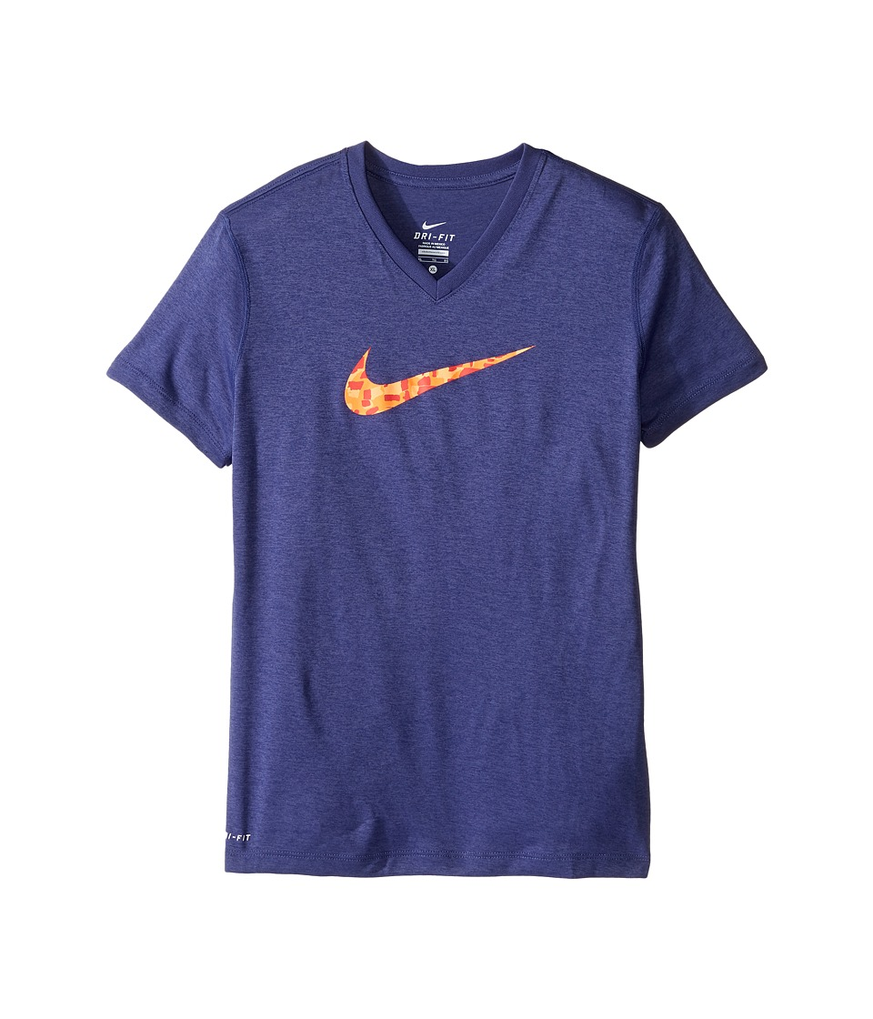 Nike Kids - Dry Swoosh Short Sleeve Training T-Shirt (Little Kids/Big Kids) (Dark Purple Dust) Girl's T Shirt