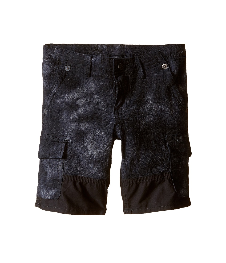 True Religion Kids - Chambray Trooper Cargo Shorts (Toddler/Little KIds) (Black) Boy's Shorts