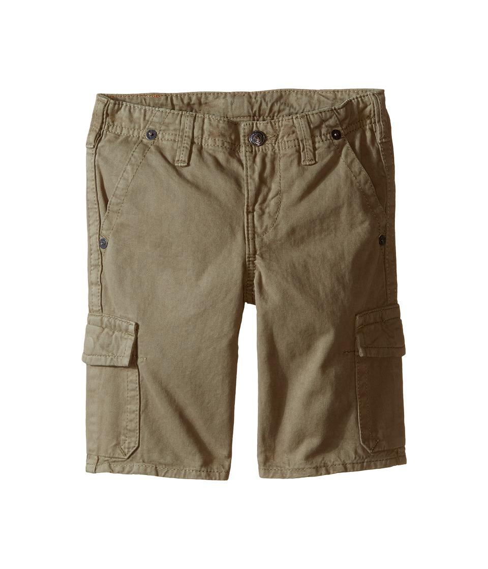 True Religion Kids - Overdye Trooper Cargo Shorts (Toddler/Little Kids) (Cactus Olive) Boy's Shorts