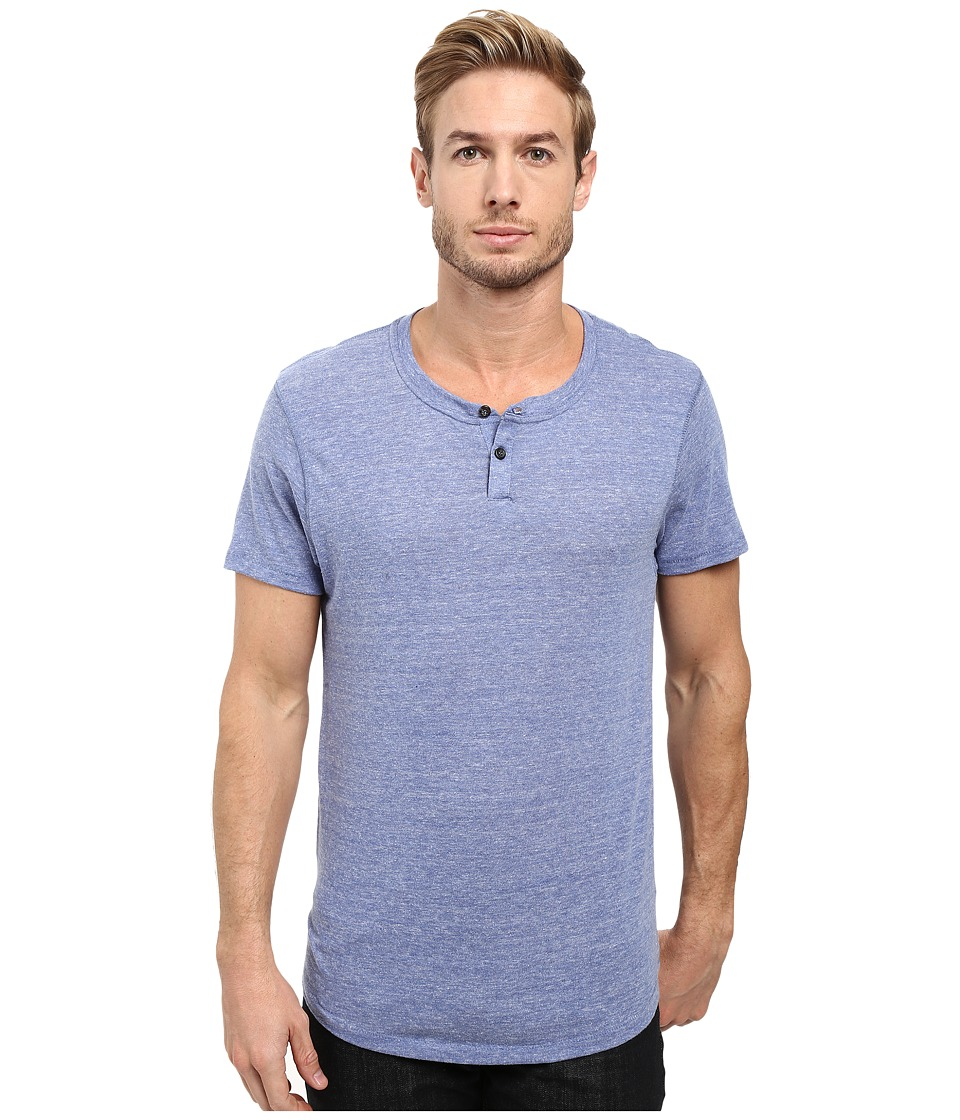 Alternative - Eco Jersey Shirttail Henley (Eco Pacific Blue) Men's Long Sleeve Pullover