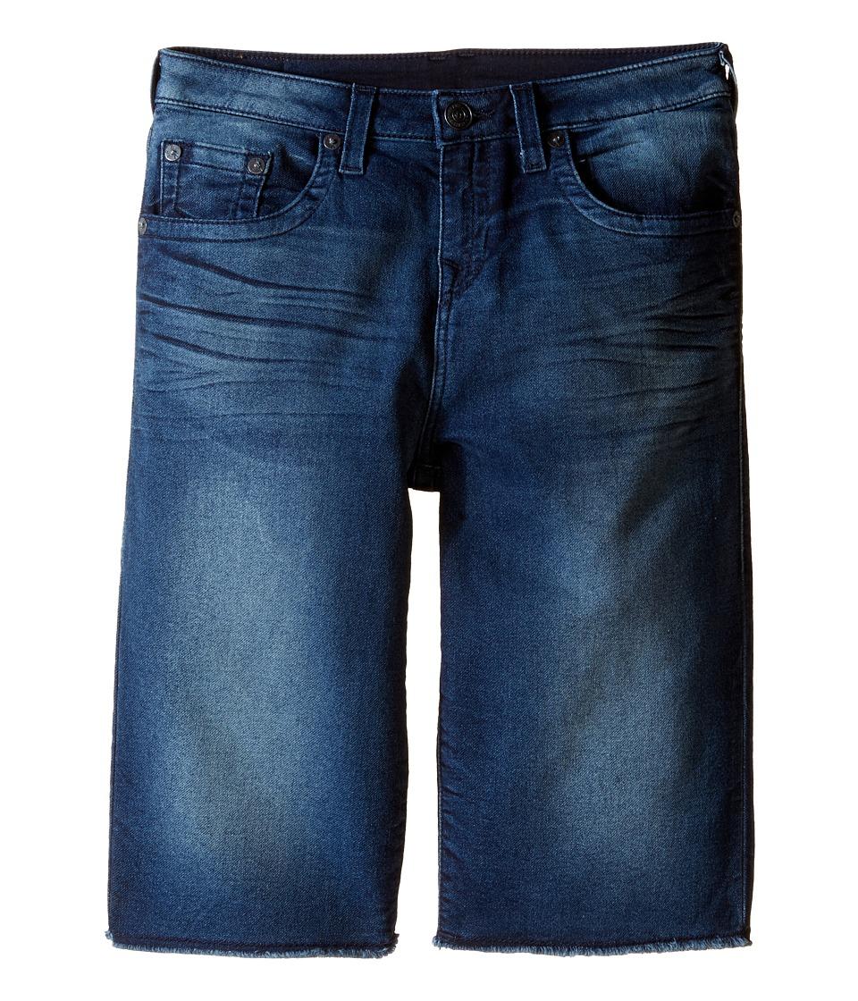 True Religion Kids - French Terry Geno Shorts (Big Kids) (Rusty River) Boy's Shorts