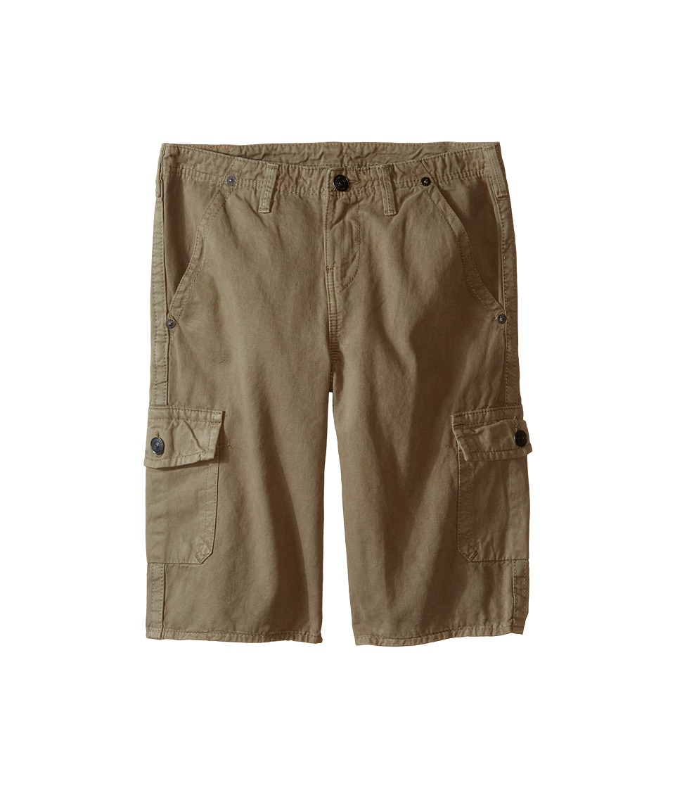 True Religion Kids - Overdye Trooper Cargo Shorts (Big Kids) (Cactus Olive) Boy's Shorts