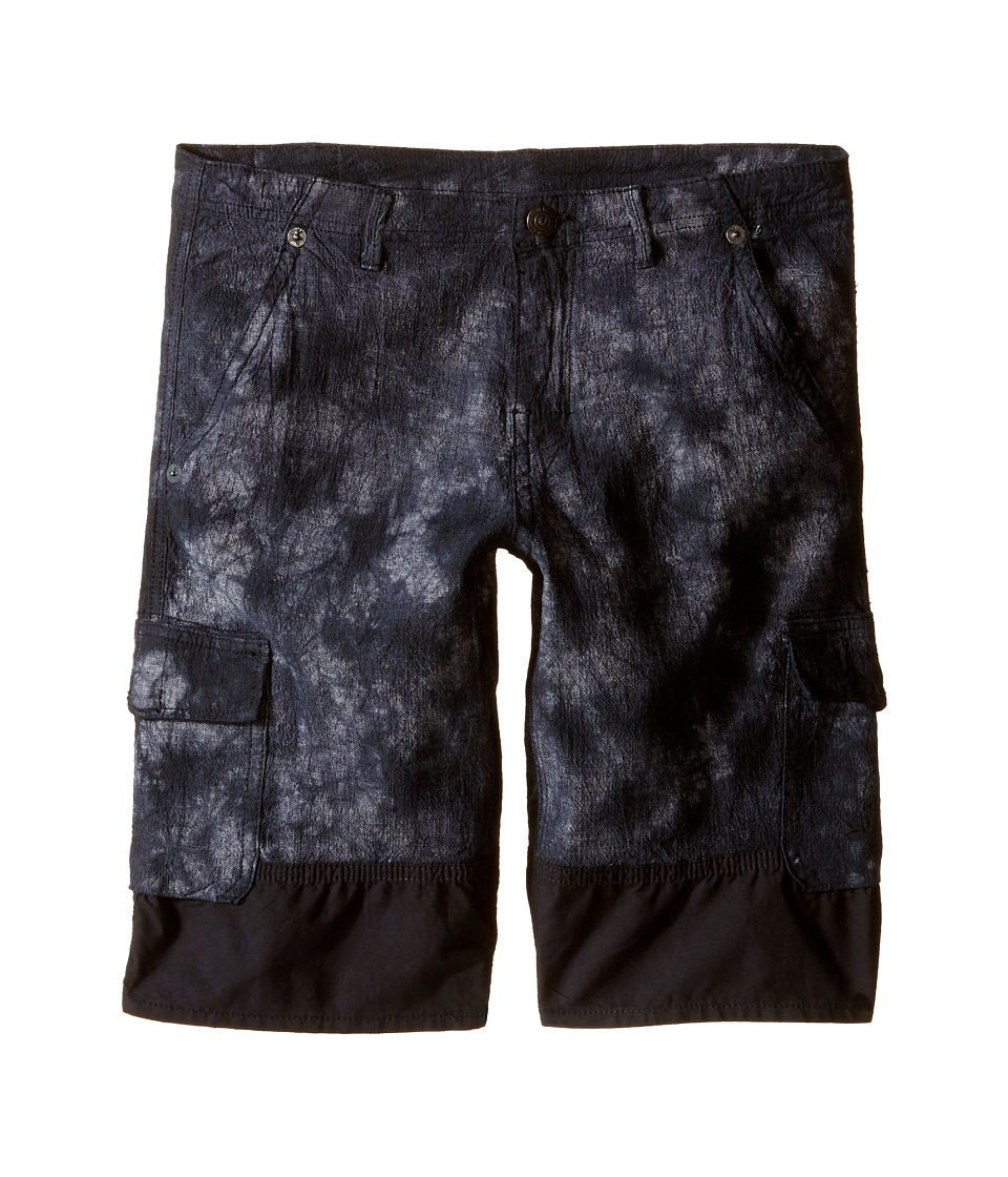 True Religion Kids - Chambray Trooper Cargo Shorts (Big Kids) (Black) Boy's Shorts