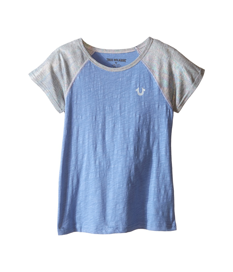 True Religion Kids - Branded Logo Color Block Tee (Toddler/Little Kids) (Mile High) Girl's T Shirt
