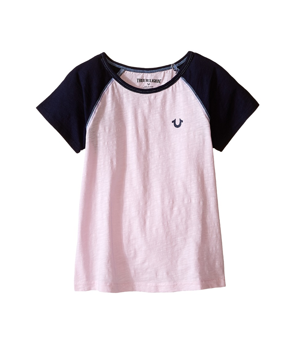 True Religion Kids - Branded Logo Color Block Tee (Toddler/Little Kids) (After Glow) Girl's T Shirt