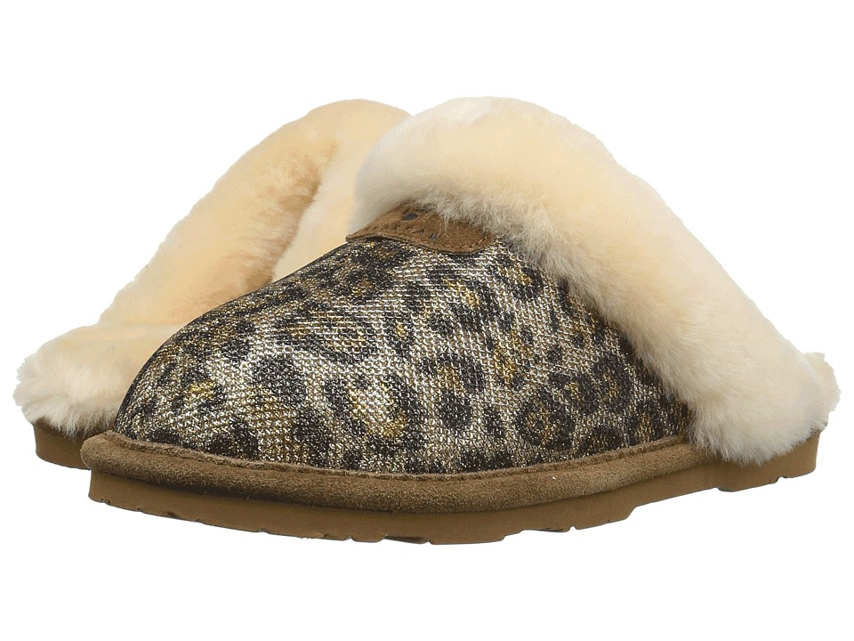 Bearpaw Loki II (Gold Leopard Fabric) Women