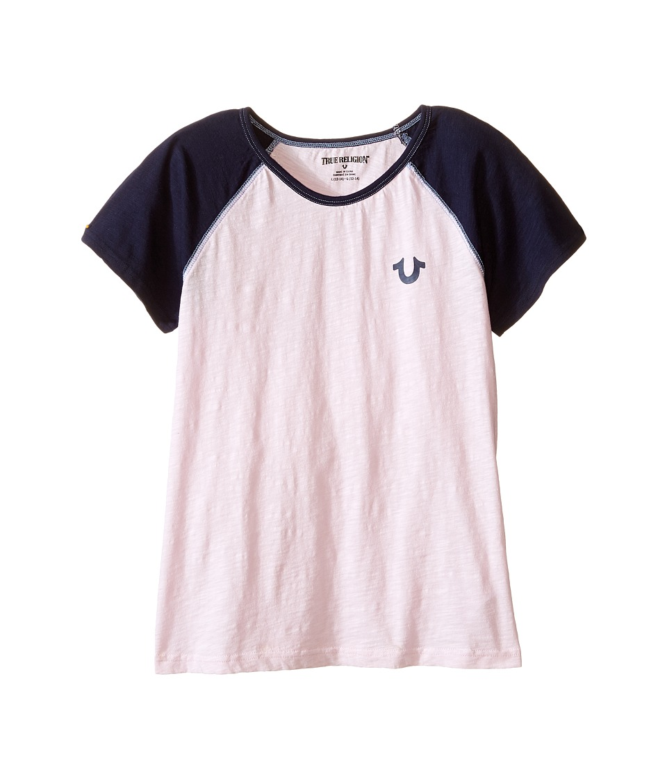 True Religion Kids - Branded Logo Color Block Tee (Little Kids/Big Kids) (After Glow) Girl's T Shirt