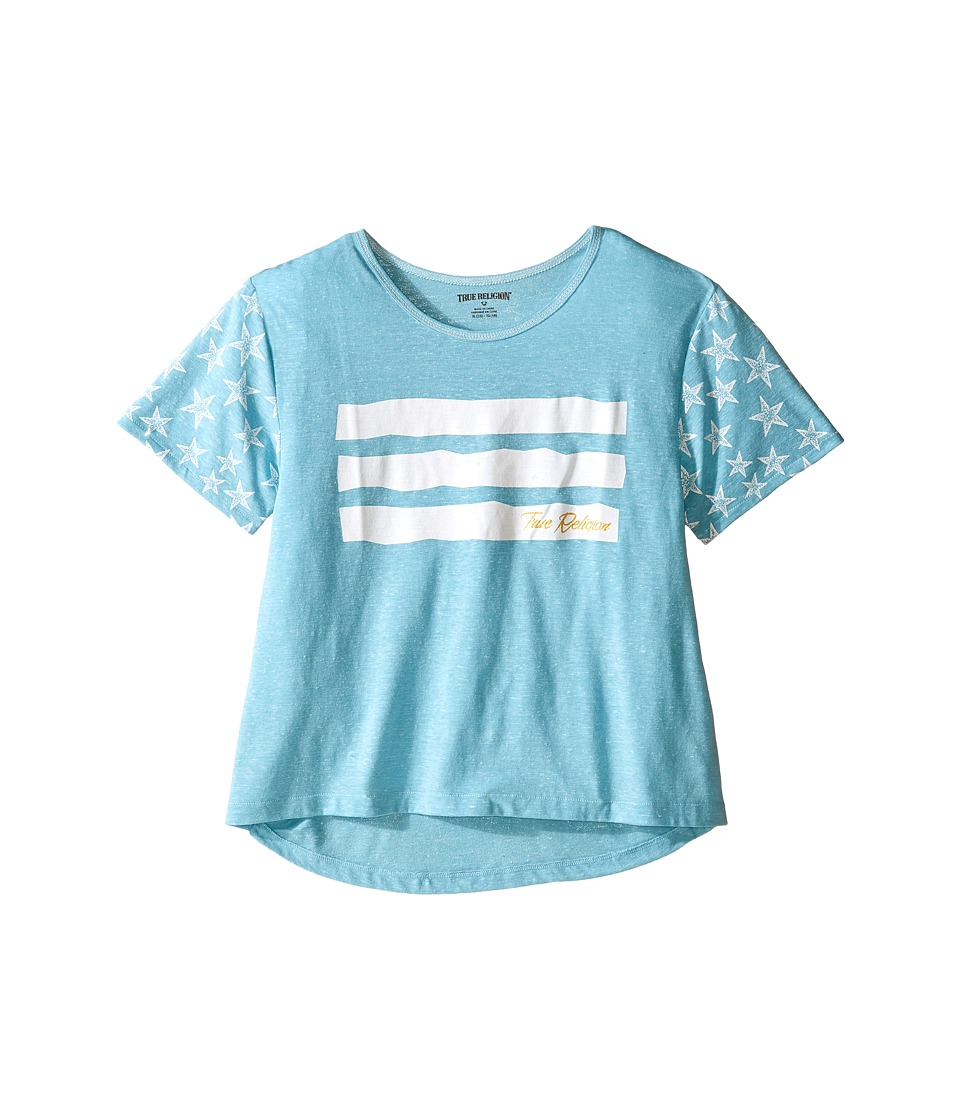 True Religion Kids - Stars Stripes Drape Tee (Little Kids/Big Kids) (Mint) Girl's T Shirt