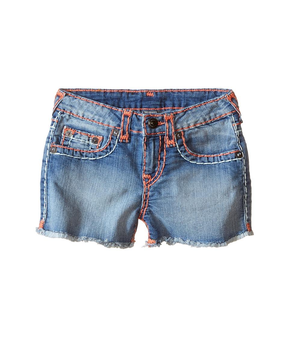 True Religion Kids - Bobby Coral Mint Combo Super T Shorts (Toddler/Little Kids) (Retro Blue) Girl's Shorts
