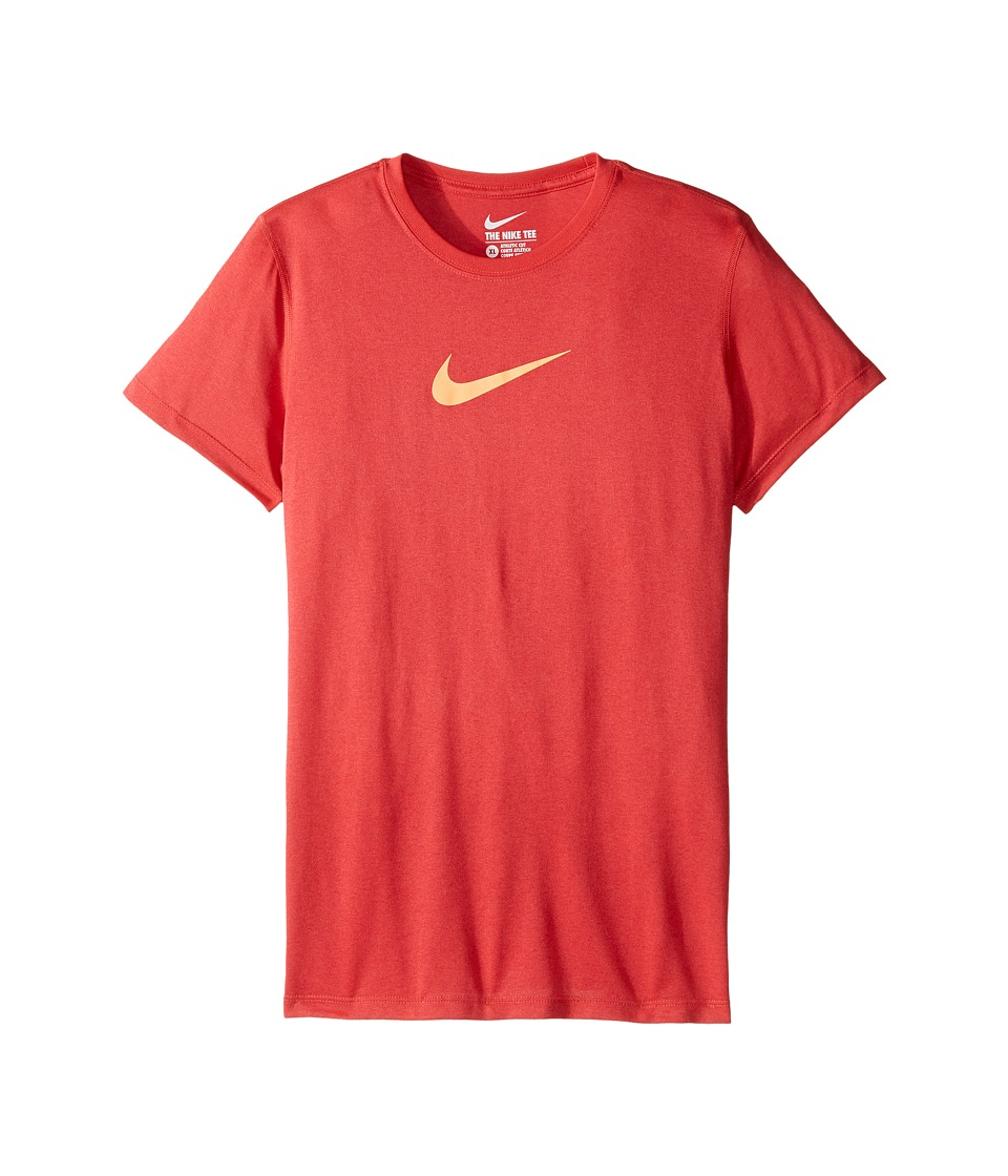 Nike Kids - Legend S/S Top (Little Kids/Big Kids) (Ember Glow/Peach Cream) Girl's T Shirt