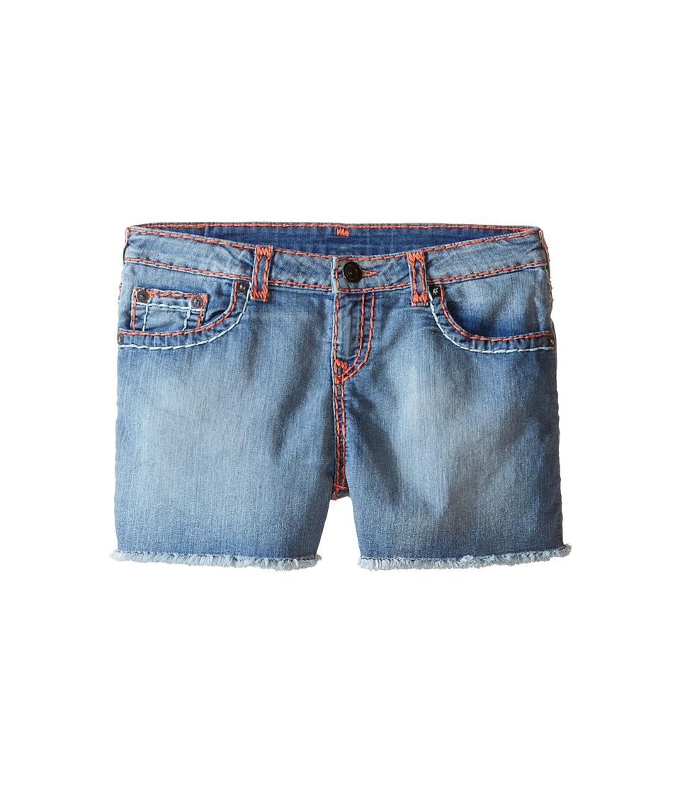 True Religion Kids - Bobby Coral Mint Combo Super T Shorts (Big Kids) (Retro Blue) Girl's Shorts