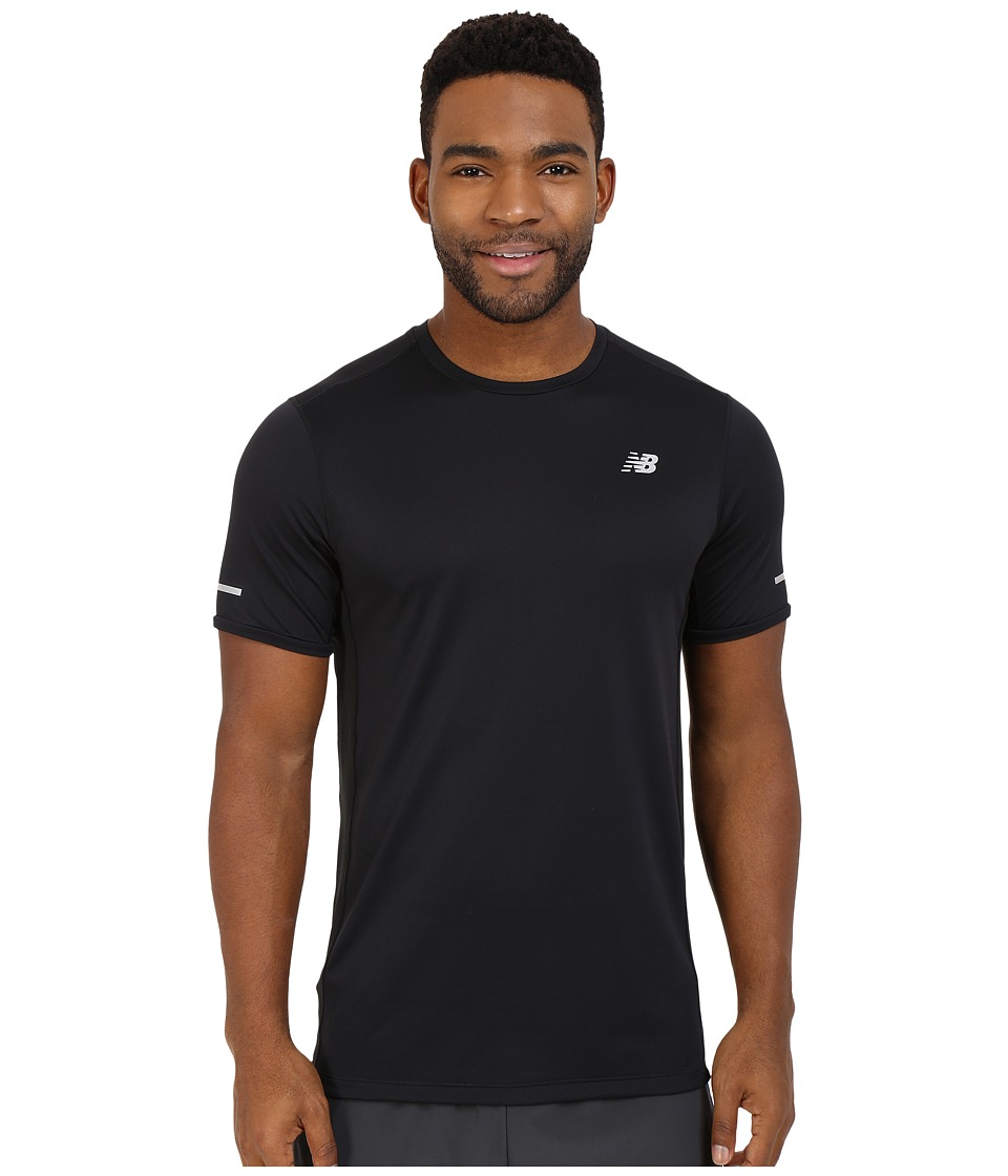 New Balance - NB Ice Short Sleeve Top (Black) Men's Clothing