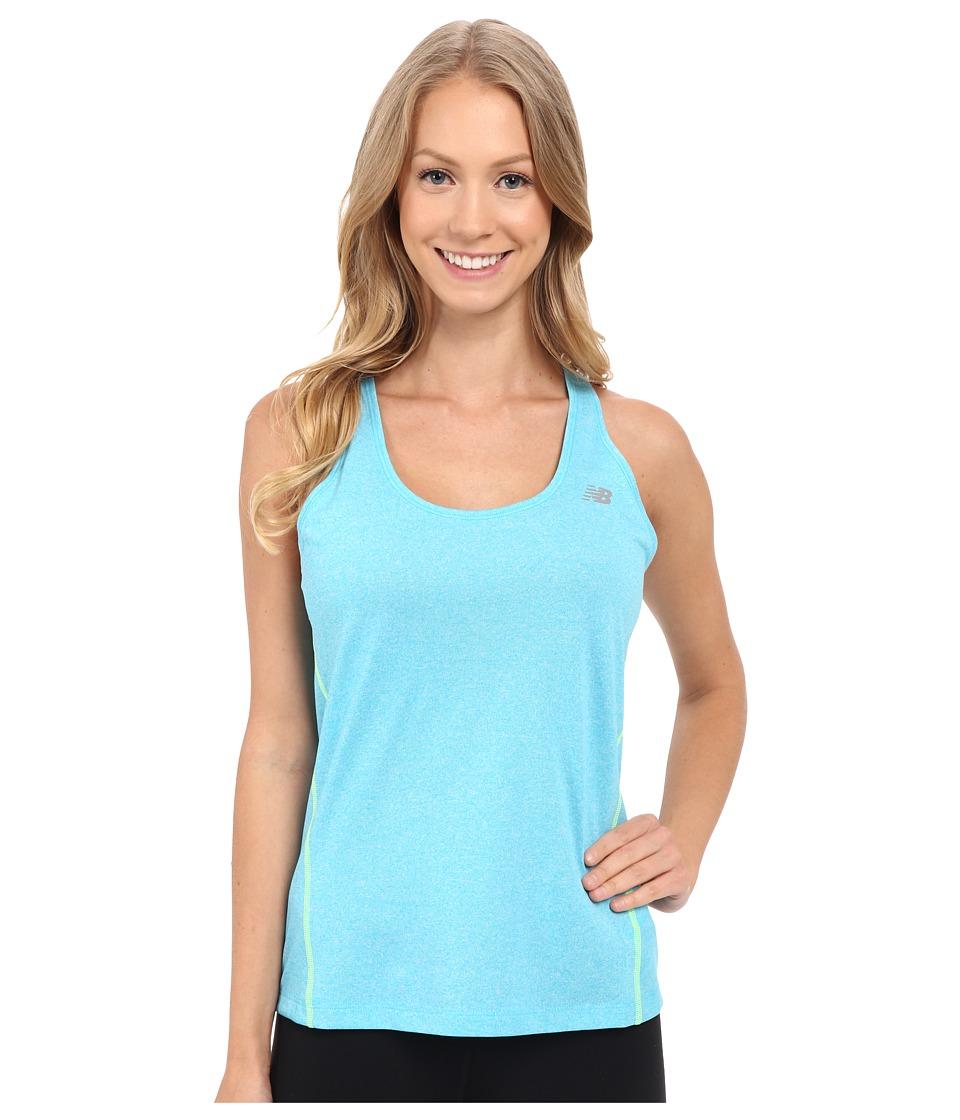 New Balance - Heathered Tank Top (Bayside Heather) Women's Sleeveless