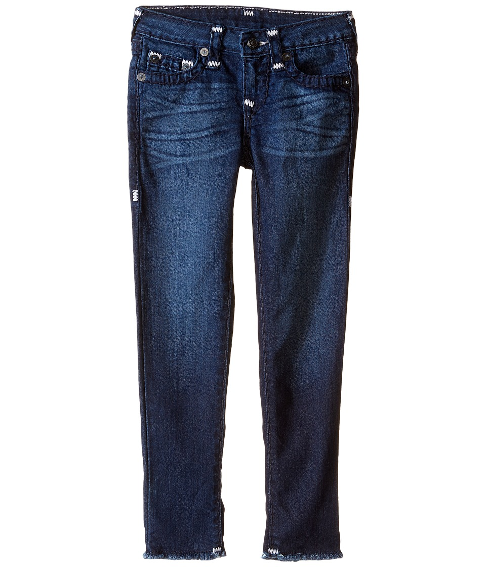True Religion Kids - Casey Raw Edge Midnight Super T Jeans in Jet Blue (Toddler / Little Kids) (Jet Blue) Girl's Jeans
